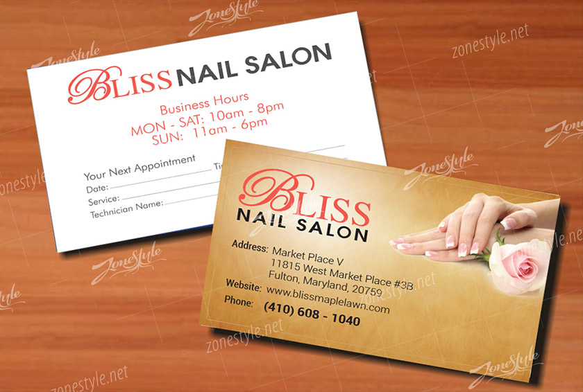 Name card Bliss Nails Care & Spa