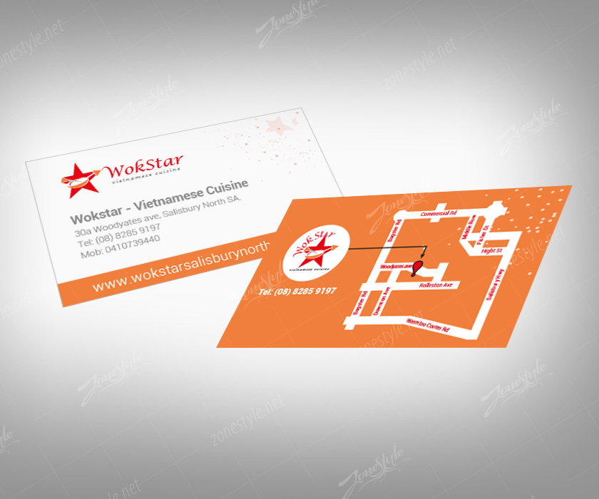 Name card Wokstar