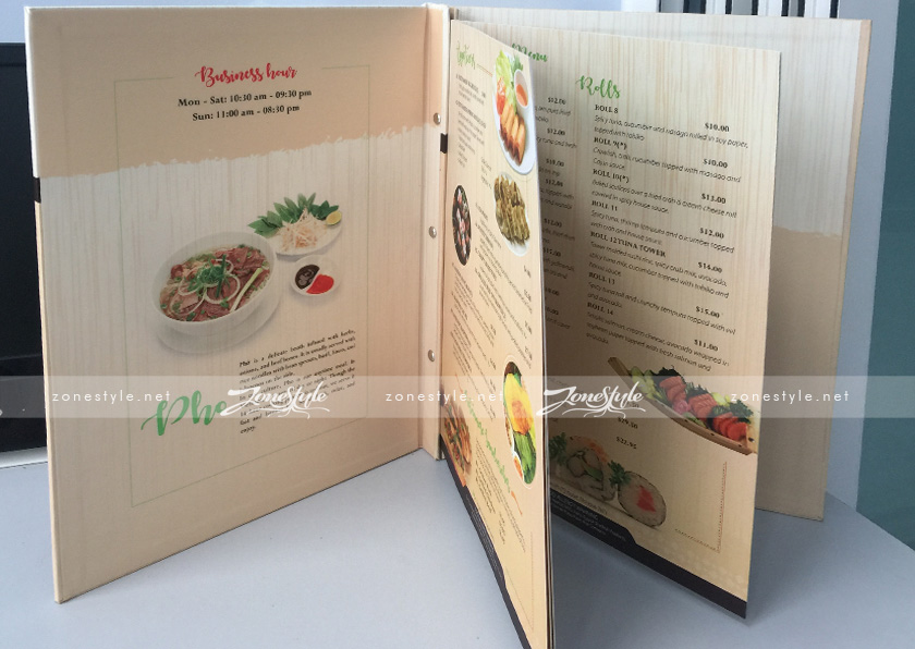 Menu Pho House – USA