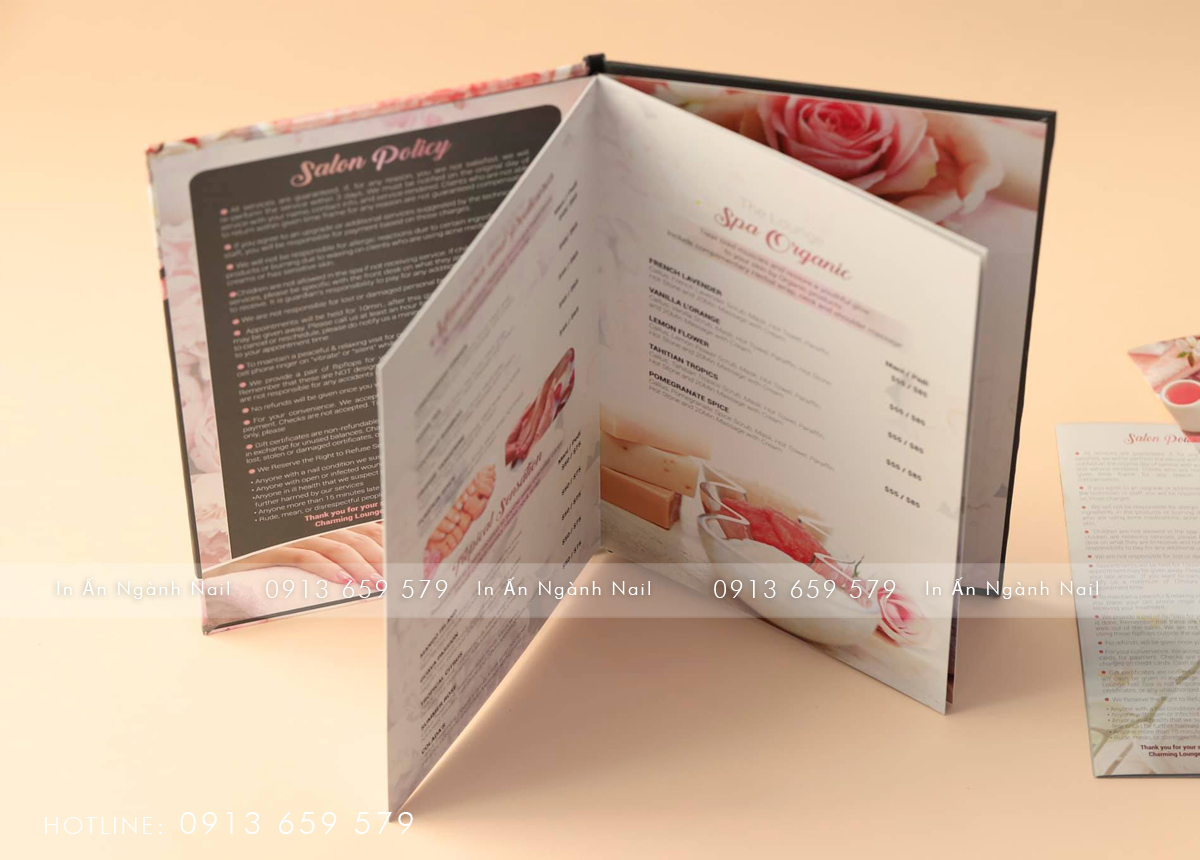 MENU – BOOKLET TIỆM NAILS CHARMING LOUNGE NAILS SPA