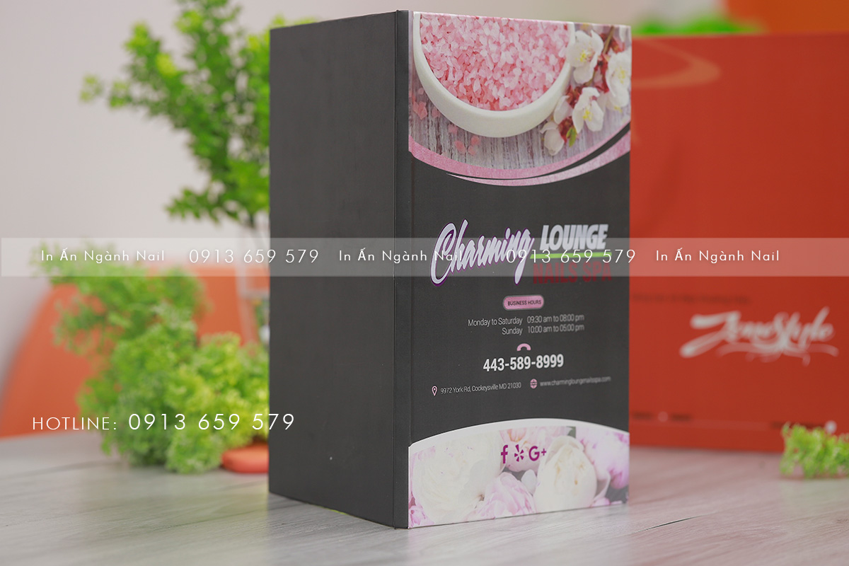 in ấn Menu - Booklet Zonestyle miền phong cách