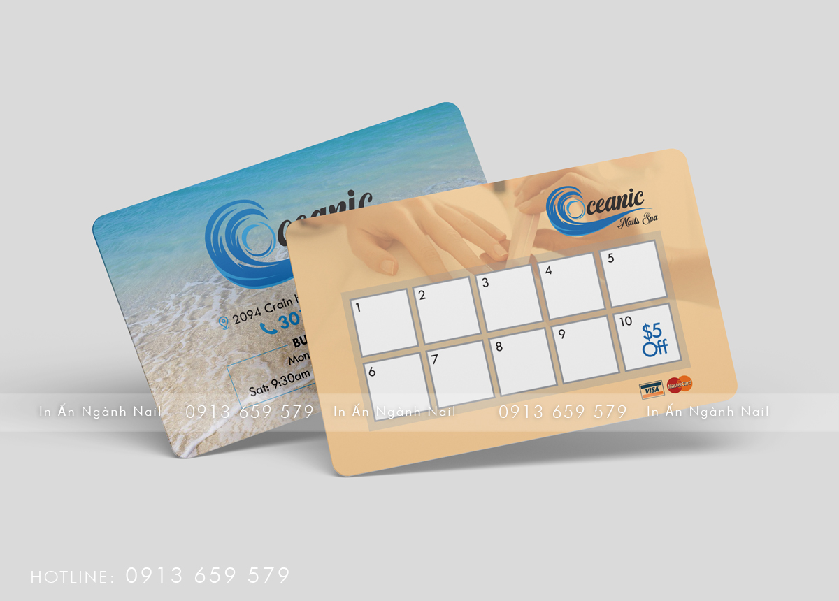 Thiết kế Business card – Oceanic Nails & Spa